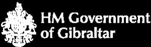HM Government of Gibraltar White Logo